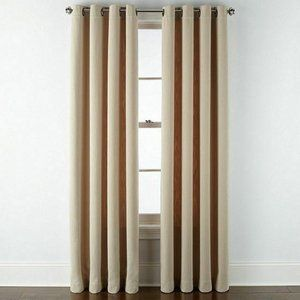 Set of 2 Liz Claiborne Alden Grommet Curtain Panel